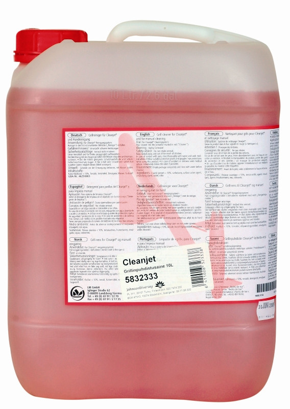 Cleanjet Uunin- ja Grillinpuhdistusaine 10L