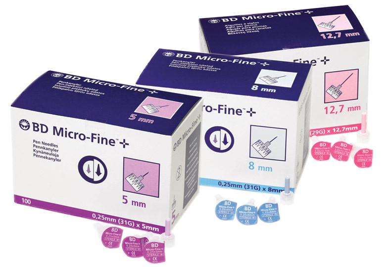 BD Micro-Fine™+ -kynäneulat