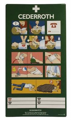 CEDERROTH hätäensiapuohjetarra